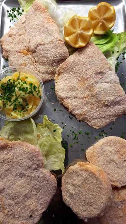 Frisch paniert vom Metzgermeister 😋#handmadewithlove