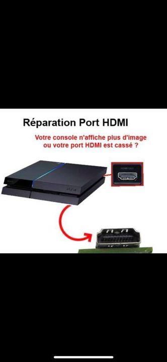 Réparation port hdmi sur play station 4                         — 59€—