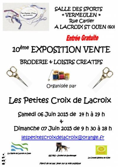 Je vous donne rendez vous ce week end à Lacroix Saint Ouen (samedi 14h /19 h et dimanche 9h30 /18 h)